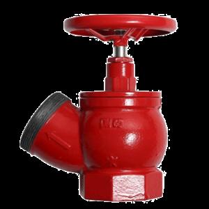 Клапан 51 мм, чугун (угловой, 125 градусов) КПЧ 50-1 (муфта-цапка)