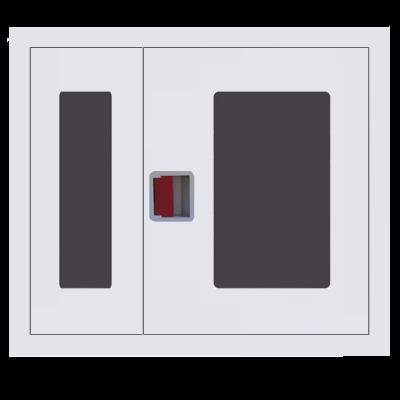 Шкаф пожарный ШПК 315 ВОБ встроенный, открытый, белый