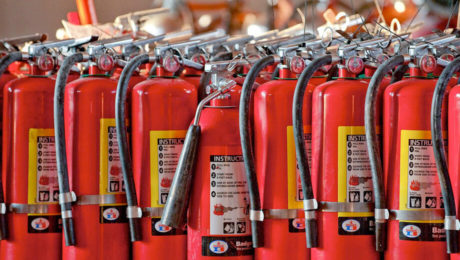 Расчёт необходимого количества огнетушителей в помещении