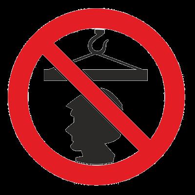 Знак - Запрещается стоять под грузом Р-37
