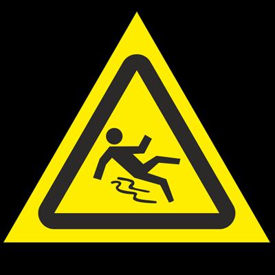 Знак - Осторожно. Скользко W28