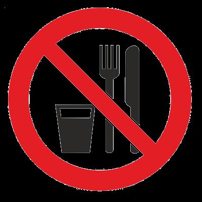 Знак – Запрещается принимать пищу Р-30