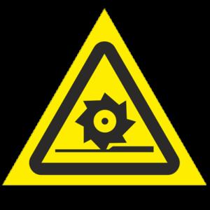 Знак - Осторожно. Режущие валы W22