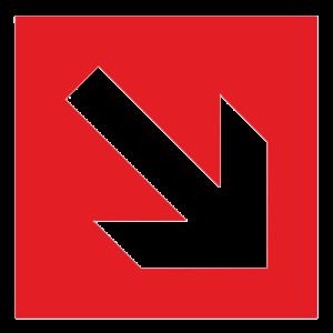 Знак - Направляющая стрелка под углом 45° F01-02