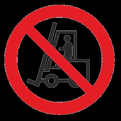 Знак - Запрещается движение средств напольного транспорта Р-07