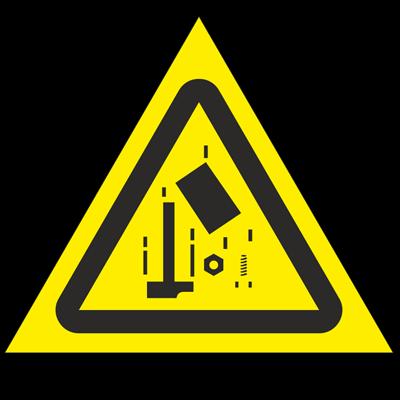 Знак - Осторожно. Падающие предметы W40
