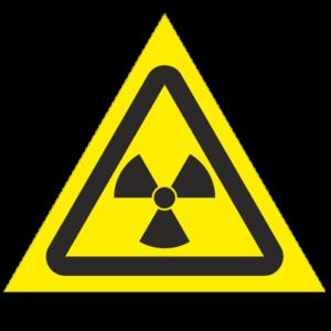 Знак - Опасно! Радиоактивные вещества или ионизирующее излучение W05