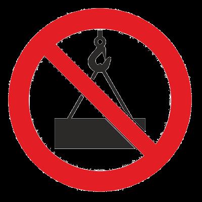 Знак - Подъем и перемещение груза запрещены Р-42