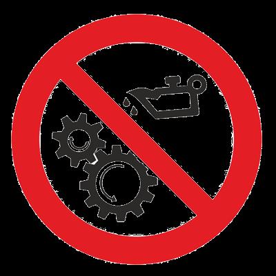 Знак - Запрещается смазывать механизмы при движении Р-43