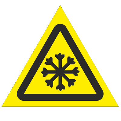 Знак - Осторожно. Холод W17