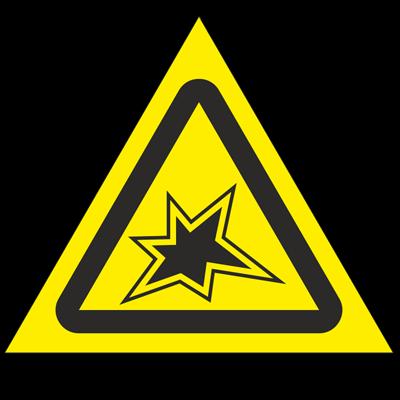 Знак - Осторожно. Газоопасные работы W36